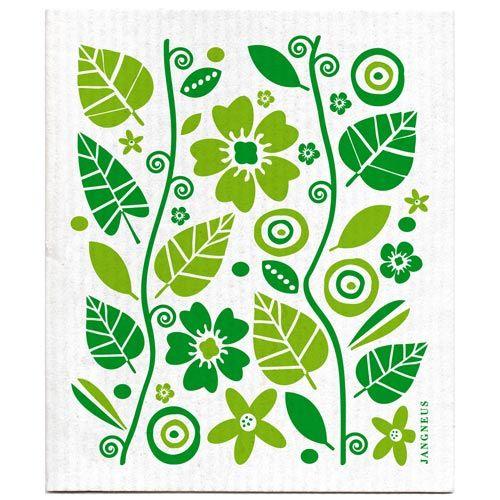 Jangneus Dishcloth flowers - leaves