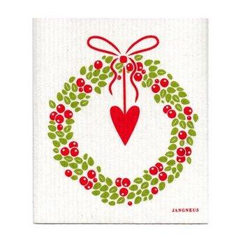 Jangneus Dishcloth Christmas wreath