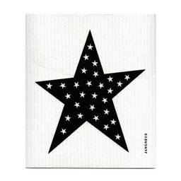 Jangneus Dishcloth Black Star