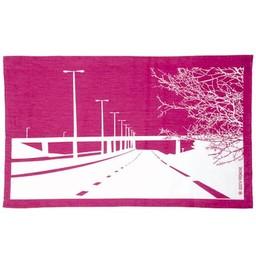 Snowden Flood Tea towel Motorway