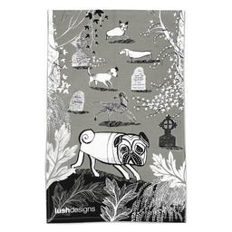 lush designs Tea towel Doggie