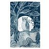 lush designs Tea towel Owl