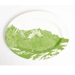 Platte schaal Bergen