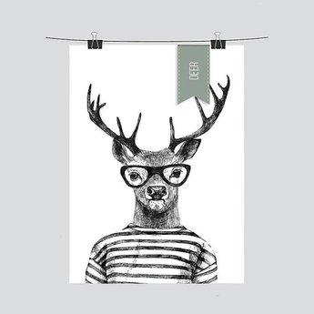 Design Jungle Print Deer