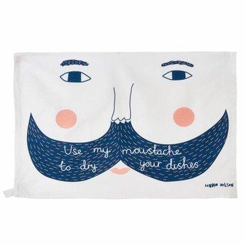 Donna Wilson Tea towel Use my moustache