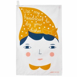 Donna Wilson Tea towel Use my quiff - Copy