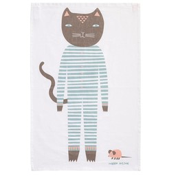 Donna Wilson Cat Tea towel