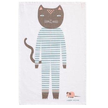 Donna Wilson Cat Tea towel