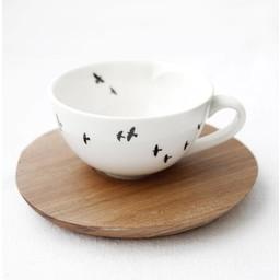 Espresso kop en schotel Vogels