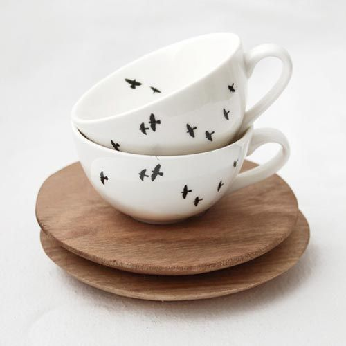 Love Milo Bird Espresso cup and saucer