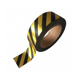 Studio stationery Washi tape Gold foil black stripe