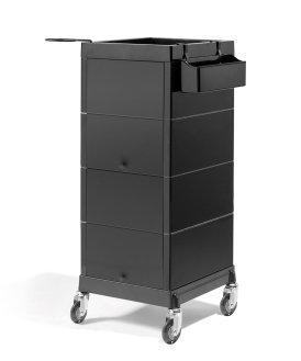 Kappers werkwagen discrete zwart kopen for Werkwagen kapper
