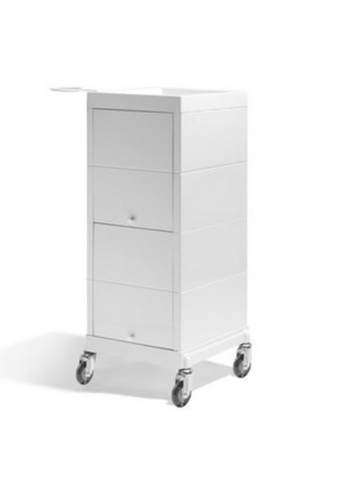 Sibel Kappers werkwagen Discrete creme wit