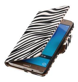 Zebra Bookstyle for Samsung Galaxy J5(2016) Wit