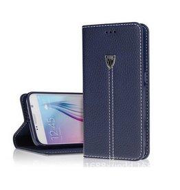 Xundd Fundas Echt Leer Case Cover Hoesje Voor Apple iphone 6/6S Blauw