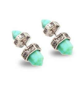 Riadlifestyle Marble turqoise ear piercing
