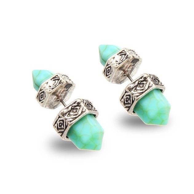 Riadlifestyle Marble turqoise oorstekers