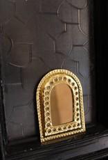 Riadlifestyle Goud/zilver kleurig aluminium spiegeltje uit Marokko.