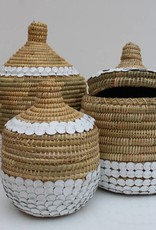 Riadlifestyle Handgemaakte rieten mand met deksle S