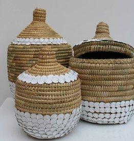 Riadlifestyle Handgemaakte rieten mand met deksel S