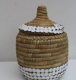 Riadlifestyle Handgemaakte rieten mand met deksle M