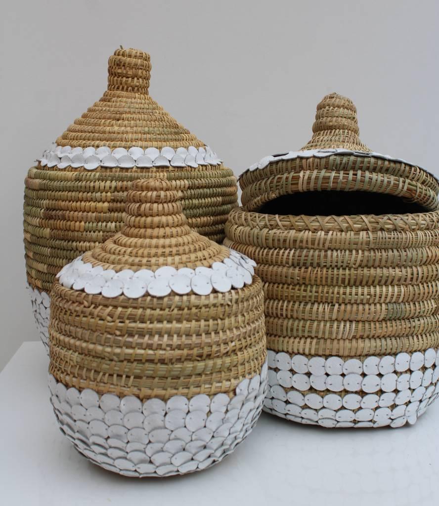 Riadlifestyle Handgemaakte rieten mand met deksel L