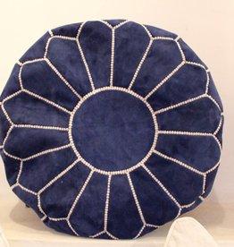 Riadlifestyle Suede poef Navy blauw