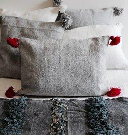 Riadlifestyle Pom Pom kussen grijs -roze