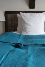 Riadlifestyle Pom Pom blanket sea green