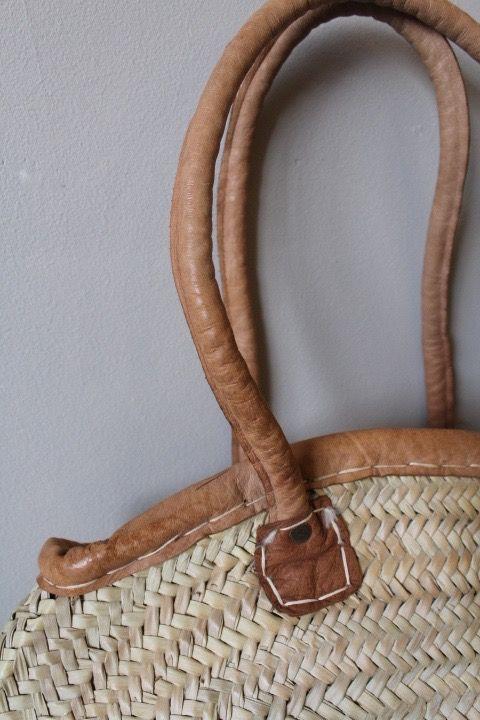 Riadlifestyle Moroccan wicker basket Cognac