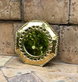 Riadlifestyle Gold mirror from Morocco small