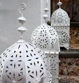Riadlifestyle Moroccan Lantern XL White