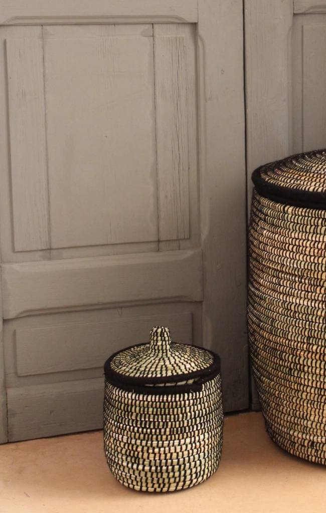 Riadlifestyle Moroccan basket black S