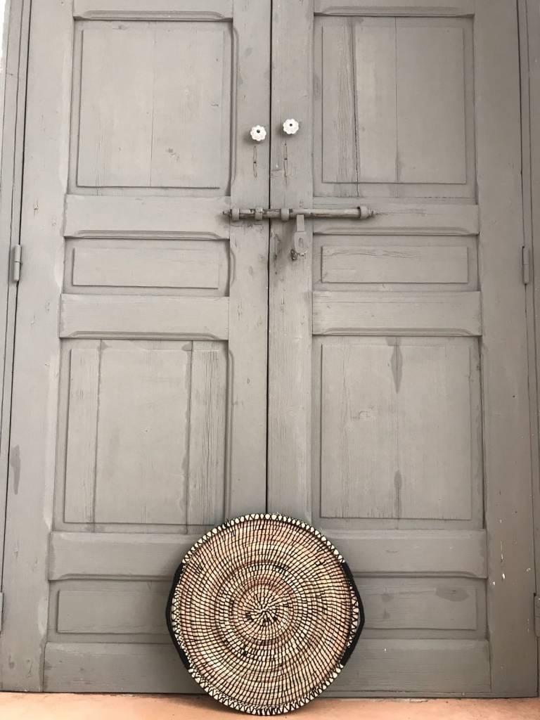 Riadlifestyle Moroccan  Woven set  Plates back