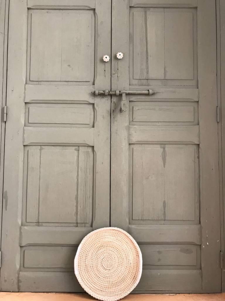 Riadlifestyle Moroccan  Woven set  Plates White