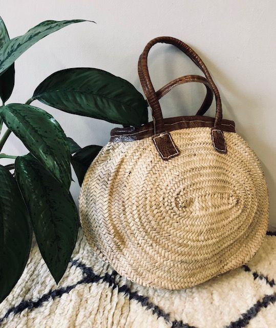 Riadlifestyle Moroccan wicker basket Snake leather