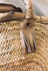Riadlifestyle Moroccan wicker basket Leather beige