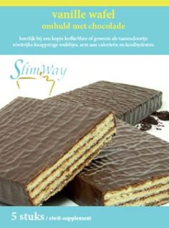 wafel omhuld met chocolade