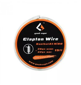 5m GeekVape Clapton Atomizer DIY Kanthal KA1/Ni80 Tape Wire (26GA Ni80 + 32GA)