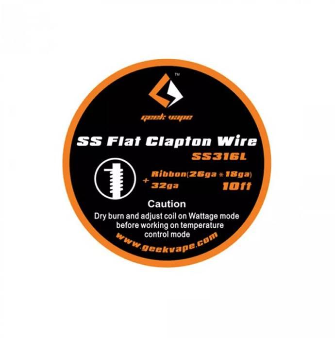 10ft GeekVape SS Flacher Clapton Draht (26GA x 18GA) + 32GA - mr-joy