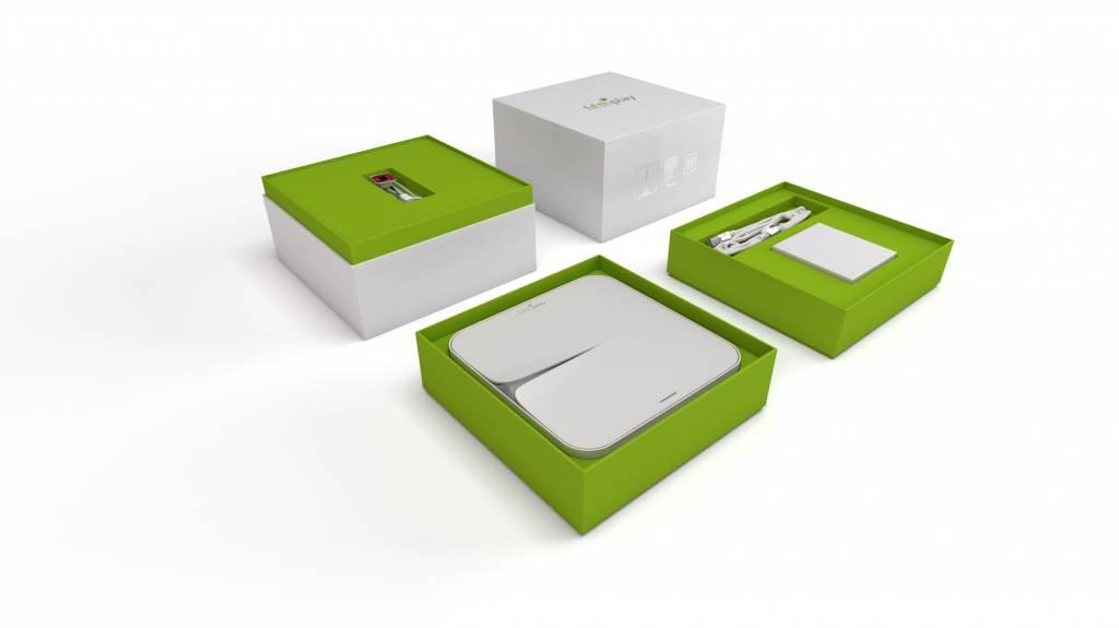 fifthplay cube - moniteur de gaz : gardez votre consommation de gaz à l'oeil – installation incl.