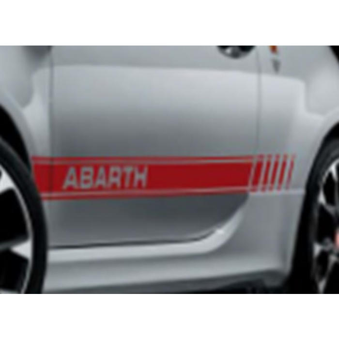 Set rode stickers Abarth