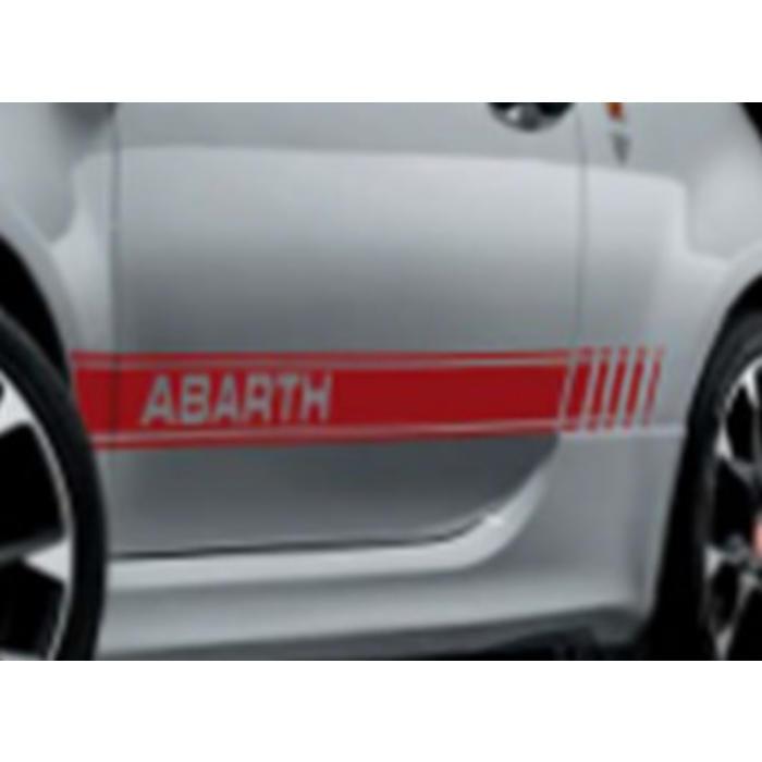 Set rode stickers voor de Abarth