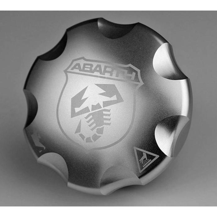 Aluminium olie dop Abarth