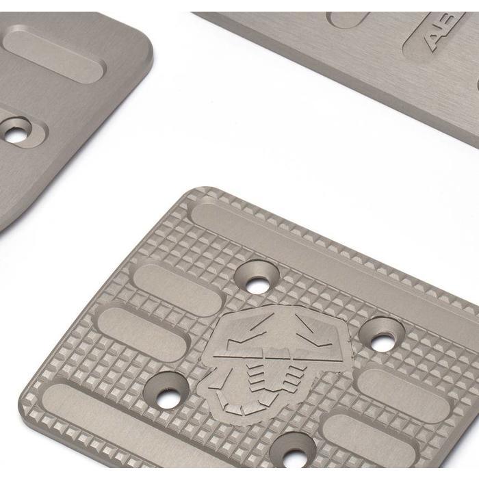 Set sportpedalen in aluminium Abarth
