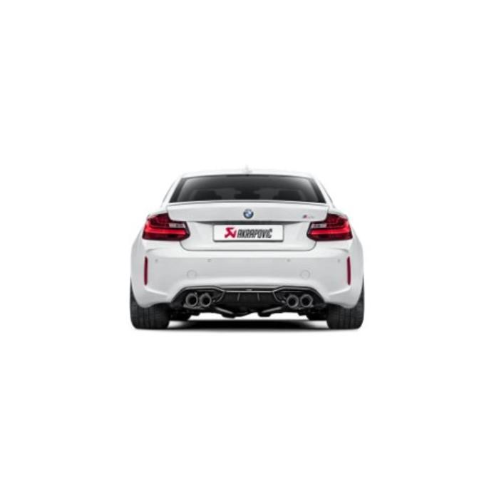 Akrapovic Rear Carbon Diffuser - Gloss voor de BMW M2 (F87)