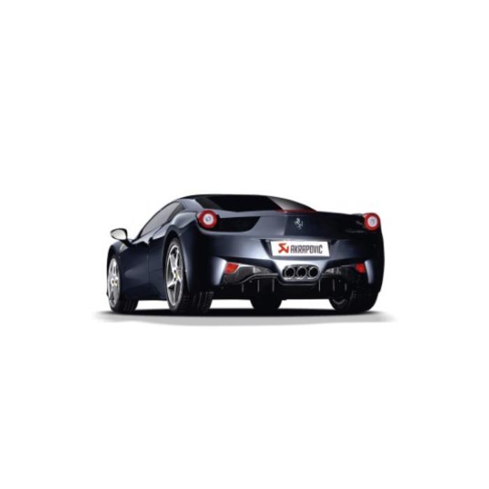 Akrapovic Slip-On Line Titanium voor de Ferrari 458 Italia/Spider