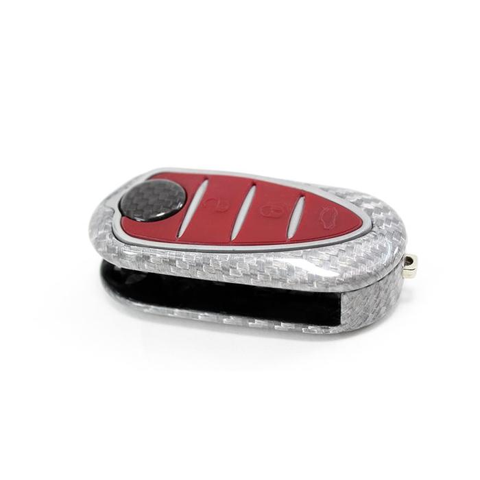 Giulietta key cover in wit carbon