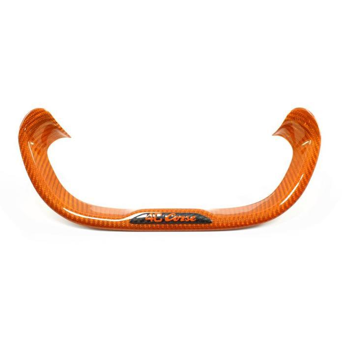 4C onderkant stuurwiel in oranje carbon
