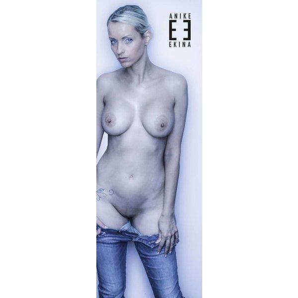 Anike Ekina Plakat DIN A2 LANG Blue Jeans